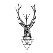 BESTIM INCUK 1pc Waterproof Temporary Tattoo Sticker Moose Deer Bucks Tattoo Elk Fake Tattoo,Chic Waterproof Temporary Tattoo Sticker Moose Deer Bucks Tattoo Elk Fake Tattoo,1pc Waterproof Temporary Tattoo Sticker Moose Deer Bucks Tattoo Elk Fake Tatto ..