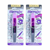 2 x L'Oreal Voluminous Miss Manga Limited Edition Mascara Purple Pop