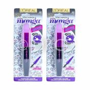 2 x L'Oreal Voluminous Miss Manga Limited Edition Mascara Purple Pop