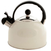 Cream Whistling Kettle Stove Top Kettle Large 2.5 Litres Capacity