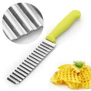Mofun Stainless Vegetable Carrot Crinkle Wavy Potato Chip Cutter Blade Slicer