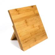Woodluv Universal Magnetic Bamboo Knife block Rack Holder Orgainser