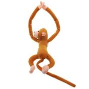 VANKER Baby Kids Soft Plush Toy Cute Hanging Long Arm Monkey Stuffed Animal Doll Brown