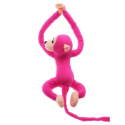 VANKER Baby Kids Soft Plush Toy Cute Hanging Long Arm Monkey Stuffed Animal Doll Hot Pink