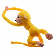 VANKER Baby Kids Soft Plush Toy Cute Hanging Long Arm Monkey Stuffed Animal Doll Yellow