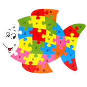 Fish Blocks Puzzle Learning ABC Alphabet Study Kids Letters Play Toy