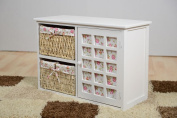 White Wicker Bedroom Bathroom cabinet Hallway Chest of Drawers Seat Storage ✔ * NEW * COSTELLO RANGE ✔ FREE NEXT DAY DELIVERY ✔ UK SELLER ✔ PREMIUM QUALITY ✔