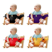 CARROT Infant Chair Portable Seat, Dining Lunch Chair Seat Safety Belt, Stretch Wrap Feeding Chair Harness + 1 CARROT Bracelet