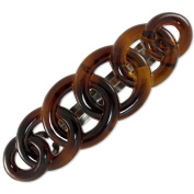 9cm French Rings Barrette (Tortoiseshell) | Made in France | Quality Hair Accessories | Ebuni
