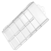 Acrylic Clear False Nail Tips Empty Storage Box Case Unit Container