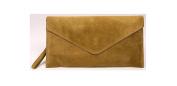 Big Handbag Shop Genuine Italian Suede Leather Envelope Clutch Party Wedding Bag