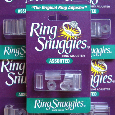 Ring Too Big. Snuggies Plastic Adjuster Ring Size Reducer Clip Swollen Knuckles [1 Assorted Pack of 6]