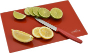 Harbour Housewares Glass Kitchen Chopping Board - Red -