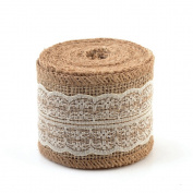 eZthings® Decorative Designer Fabric Ribbons for Home Craft Projects and Gift Baskets (3 Yard, Cream