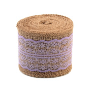 eZthings® Decorative Designer Fabric Ribbons for Home Craft Projects and Gift Baskets (3 Yard, Lavender