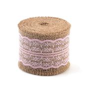 eZthings® Decorative Designer Fabric Ribbons for Home Craft Projects and Gift Baskets (3 Yard, Light Pink