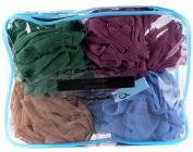 Fancy & Beyond · Men & Women's Mesh Shower Sponge(4 Colour Pack) · Extra Soft 50g Bath Body Wash Pouffe Set