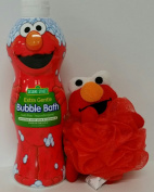 Sesame Street Elmo Bubble Bath 710ml with character bath scrunchie