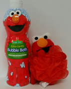 Sesame Street Elmo Bubble Bath 710ml with character bath scrunchie