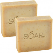 Goat's Milk Exfoliating Coconut Oil Soap With Organic Shea Butter and Hemp Oil By Soap Club 160ml 2 Pack