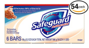 (PACK OF 54 BARS) Safeguard BEIGE Antibacterial Bar Soap for Men & Women. ELIMINATES 99% OF BACTERIA! Washes Away Dirt & Odour! Healthy Skin for Hands, Face & Body!