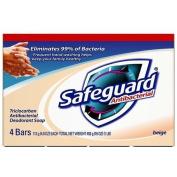 Safeguard 08833 Beige Antibacterial Bath Bar Soap, 120ml Bar
