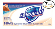 (PACK OF 7 BARS) Safeguard BEIGE Antibacterial Bar Soap for Men & Women. ELIMINATES 99% OF BACTERIA! Washes Away Dirt & Odour! Healthy Skin for Hands, Face & Body!