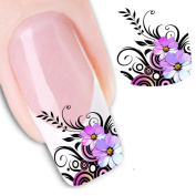 Sankuwen® Nail Art Sticker Water Transfer Stickers Flower Decals Tips Decoration