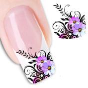 Sankuwen® Nail Art Sticker Water Transfer Stickers Flower Decals Tips Decoration