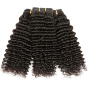 ZS Hair 3bundles 300g 8a Unprocessed Human Hair Weave Brazilian Virgin Curly Hair Extensions Natural Black Brazilian Afro Kinky Curly Virgin Hair Bundles Double Weft