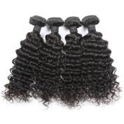 Toprincess 8A Grade Brazilian Virgin Hair Weft Deep Wave 50cm 60cm 60cm and 70cm Natural Black Virgin Hair for Black Woman No Tangle and No Shedding 1 Year Lasting
