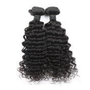 Toprincess 8A Grade Brazilian Virgin Hair Weft Deep Wave 60cm 60cm Natural Black Virgin Hair for Black Woman No Tangle and No Shedding 1 Year Lasting