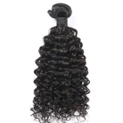 Toprincess 8A Grade Brazilian Virgin Hair Weft Jerry Curl 50cm Natural Black Virgin Hair for Black Woman No Tangle and No Shedding 1 Year Lasting