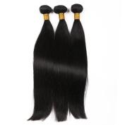 Toprincess 8A Grade Brazilian Straight Hair Weft 3pcs 50cm Natural Black Virgin Hair for Black Woman No Tangle and No Shedding 1 Year Lasting