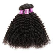 ZS Hair Mixed Length 25cm - 80cm Brazilian Virgin Hair Kinky Curly 3 Bundles Unprocessed Natural Colour 100% Human Hair Extensions