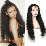 Lace Front Human Hair Wigs Waye Unprocessed Virgin Brazilian Water Wave Hair Wigs 130 Denisity For Black Women 36cm - 70cm In Stock Natural Colour