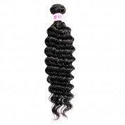 Rabake 100g Natural Black Curly Deep Wave 100 Brazilian Human Hair Weft Weave Extensions 1 Bundles Deals Mixed Length 25cm - 80cm
