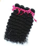 Yaweida Hair Grade 7A 100% Peruvian Remy Human Hair Weft Real Virgin Peruvian Hair Extensions Deep Wave 4 bundles Natual Colour Mixed Length