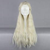 70cm Building Game of Thrones Cosplay Wig Daenerys Targaryen khaleesi Barbarian Bride Costume Women's Braided Long Curly Wavy Hair Wig