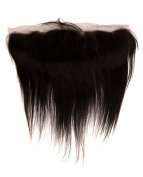 abHair® 25cm Indian Remy Straight Virgin Human Hair Free Part 13*4 Full Lace Frontal Closure, Bleach Knots with Unprocessed 100% 6A Baby Hair, Full Bottom, Ear to Ear, Natural Colour