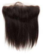 abHair® 30cm Indian Remy Straight Virgin Human Hair Free Part 13*4 Full Lace Frontal Closure, Bleach Knots with Unprocessed 100% 6A Baby Hair, Full Bottom, Ear to Ear, Natural Colour