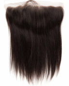 abHair® 36cm Indian Remy Straight Virgin Human Hair Free Part 13*4 Full Lace Frontal Closure, Bleach Knots with Unprocessed 100% 6A Baby Hair, Full Bottom, Ear to Ear, Natural Colour