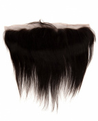 abHair® 20cm Indian Remy Straight Virgin Human Hair Free Part 13*4 Full Lace Frontal Closure, Bleach Knots with Unprocessed 100% 6A Baby Hair, Full Bottom, Ear to Ear, Natural Colour