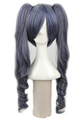 Yuehong Light Black Cosplay Wigs With Two Ponytail Japan Natural Synthetic Cosplay Wigs