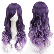 YX Harajuku anime Cosplay Purple Gradient Long Curly Hair Wig/Party wigs