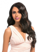 MEGA LACE 108 (1B Off Black) - Hair Topic L-Part Synthetic Lace Front Wig
