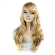 Long Natural Blonde Wig Synthetic Women Wigs
