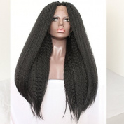 PlatinumHair 1b YaKi straight wigs synthetic lace front wigs for black women 60cm