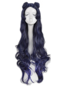 Yuehong Cosplay Wig Long Wavy Famale Fashion Style Party Wig