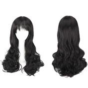 YX Women's air Bangs Long Hair Wig,Girls Party/Cosplay wigs